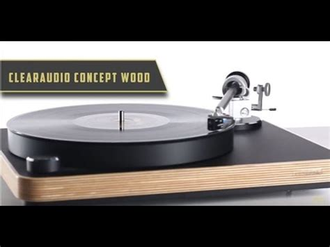 clear audio clearaudio concept wood turntable product features