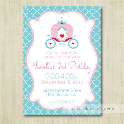 cinderella printable party decorations printable cinderella princess birthday invitation by