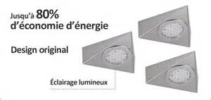 luisina kit 3 spots triangle led achat vente luisina