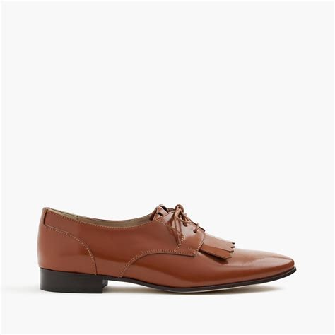 j crew oxford shoes j crew leather oxfords with fringe in brown for lyst