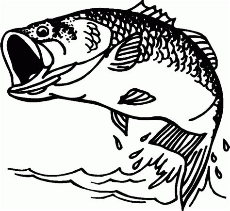 fish coloring book pages coloring home 8 pics of jumping fish coloring pages jumping bass fish