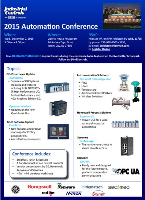 2015 automation conference industrial controls