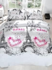 Cool Double Duvet Covers Paris Themed Bedding
