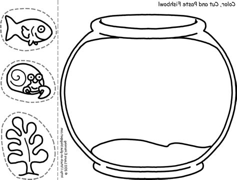 coloring pages fish bowl fish bowl coloring page printable goldfish bowl template