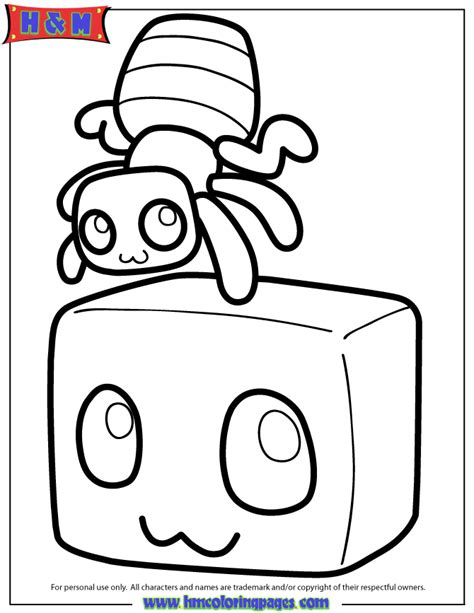 minecraft coloring pages magma cube minecraft spider free coloring pages