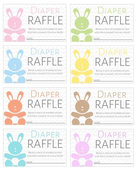 printable easter tickets free printable diaper raffle tickets