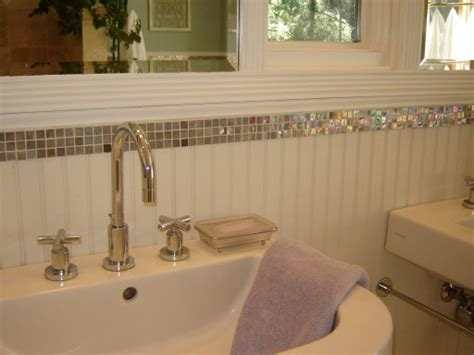beadboard tile in bathroom before after a small bathroom gets a big makeover