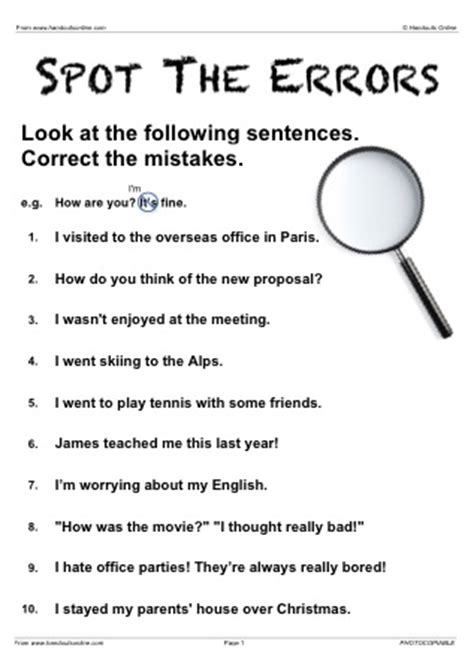 efl esl past simple / continuous english worksheets