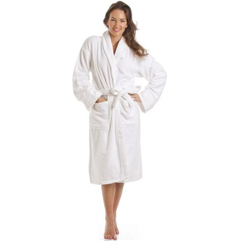 bathroom robes womens white towelling bath robe