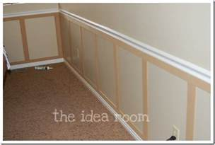 faux wainscoting panels faux wainscoting diy version 2 the idea room