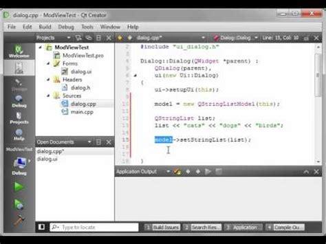 qt programming model c qt 47 intro to model view programming youtube