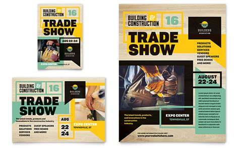 ad home design show promotion code builder s trade show flyer ad template design