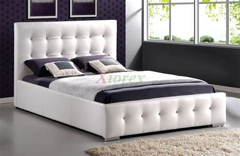 Bed With Headboard upholstered tufted platform bed furniture 183 xiorex