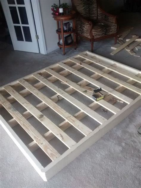 How To Build A Box Mattress by Re Building A Bed Foundation Pictures Of And Fur
