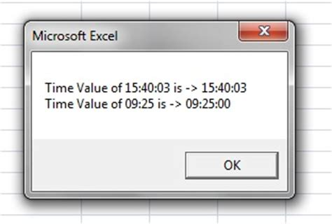 vba excel: date time functions – timeserial() and timevalue()