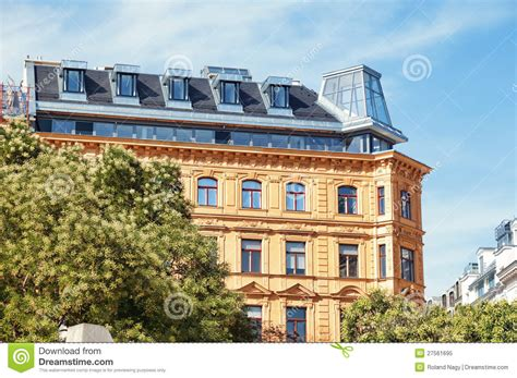 apartment building in vienna austria royalty free stock