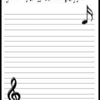 printable music stationery musical stationery