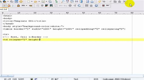 creating html templates creating a html template basic tutorial