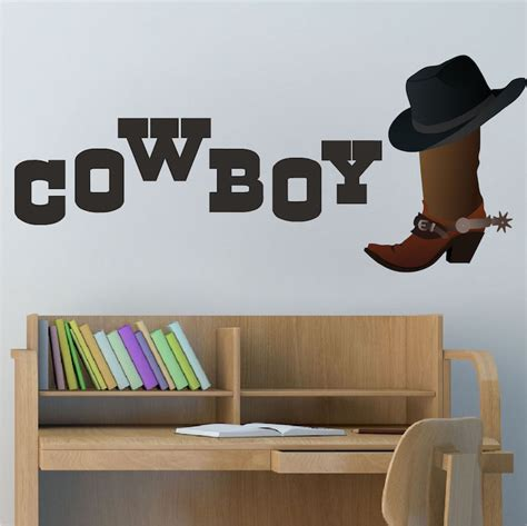 cowboy wall stickers cowboy wall decal west stickers primedecals
