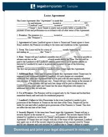 On Lease Lease Agreement Create A Free Rental Agreement Form