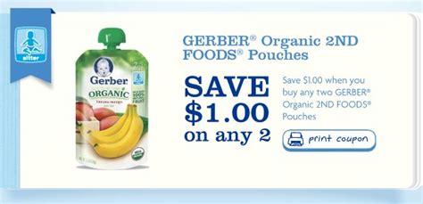 printable baby food coupons gerber organic 2nd foods printable coupon baby coupons