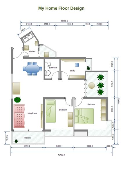 floor plan diagram building plan software edraw