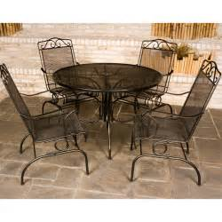 napa wrought iron patio set by meadowcraft family leisure