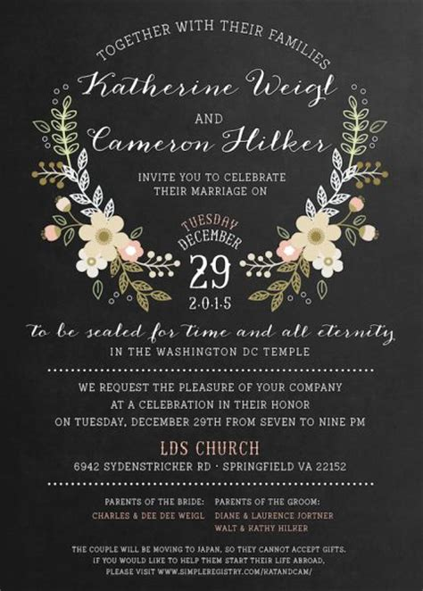 Wedding Invitations Lds by 1000 Images About Lds Wedding Invitations On