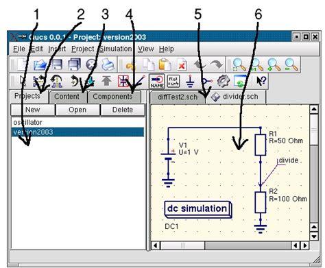 qucs resistors circuit simulator