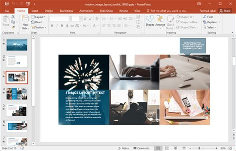 picture template animated modern image layout powerpoint template
