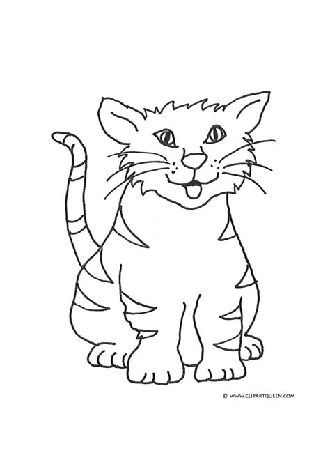 happy cat coloring page color clipart cat pencil and in color color clipart cat