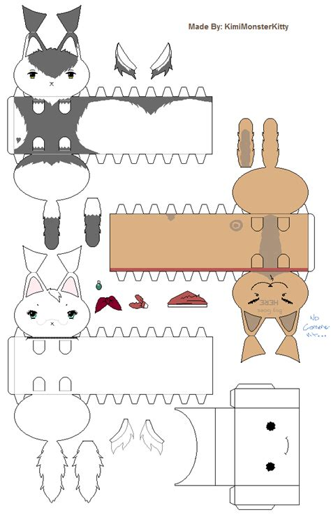 Papercraft Cats - 2010 cat paper crafts