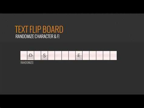 text flip board videohive templates after effects