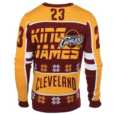 Sweater Nba lebron cleveland cavaliers nba player sweater