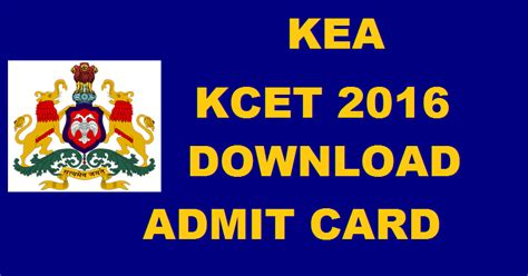 Kea Kar Nic In 2017 Mba by Kcet Admit Card 2016 Kea Kar Nic In Karnataka Cet