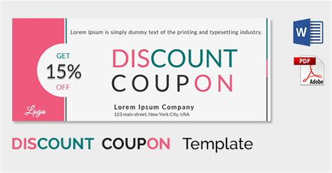 Coupon Template Word Cyberuse Coupon Template Pdf