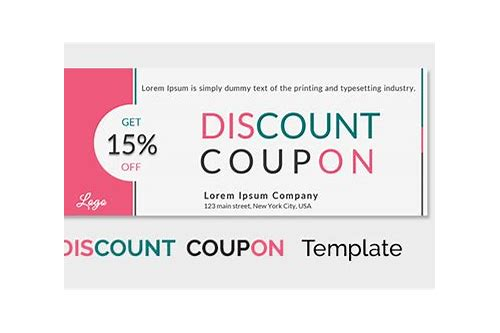design coupon template