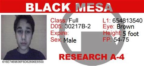 black mesa id card template my black mesa id by headcrab on deviantart