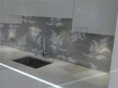 grey patterned splashback patterned glass splashback in grey and white custom made