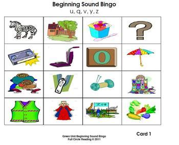 3 letter words with v beginning sounds and letters bingo cards 5 by 1025