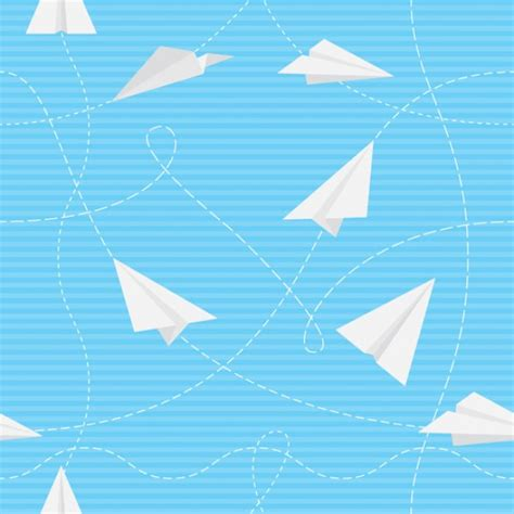 pattern paper airplane paper airplanes flying seamless pattern vector free download