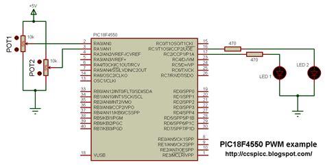 tutorial ccs c pic18f4550 pwm exle using ccs pic c
