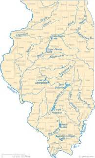 Map Of Illinois Rivers by Map Of Illinois