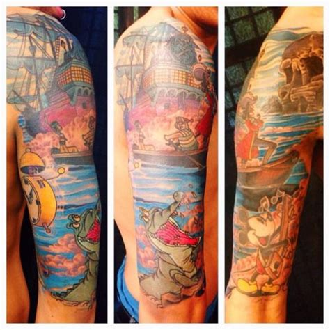 disney tattoo sleeve pan sleeve tattoos search tatts