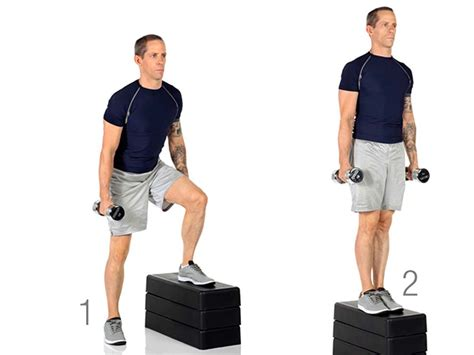 dumbbell bench step up dumbbell bench step up warrior dash strength training week 1