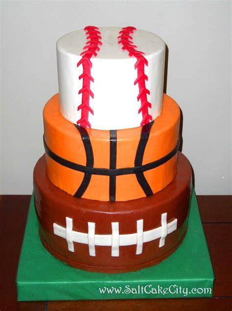 sports themed cake decorations salt cake city sports cake