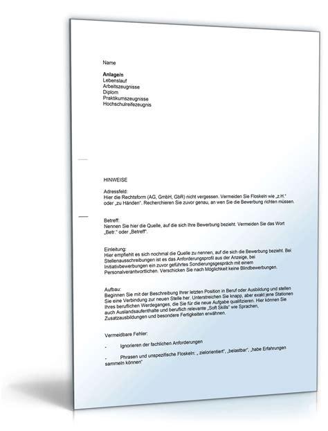 Anschreiben Bewerbung Muster Initiativ Anschreiben Bewerbung Initiativbewerbung Muster Zum