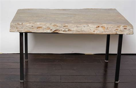 pecky cypress coffee table with iron legs for sale at 1stdibs