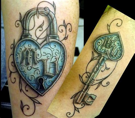 tattoos of lock and key for couples 20 matching ideas for to create a lasting