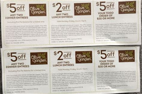 olive garden coupon $4